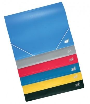 Mapa plastic DP,cu elastic,2 comp.,diverse culori