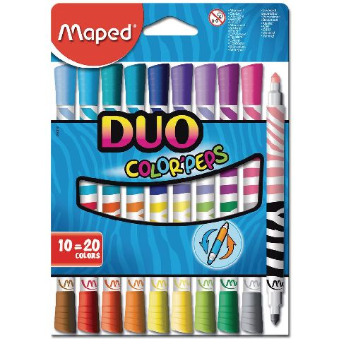 Markere pt copii,10b/set,Maped Duo