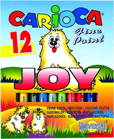Markere pt copii,12b/s,amb.cart,CariocaJoy