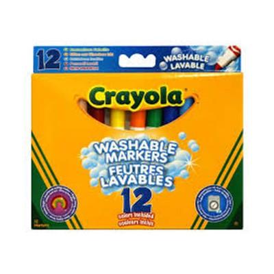 Markere pt copii,12b/s,Crayola,lavabile