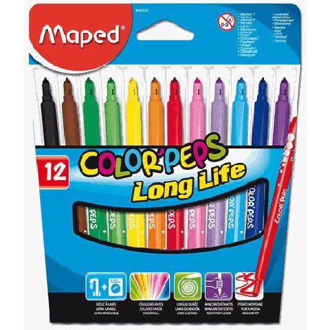 Markere pt copii,12b/set,Maped Long Life