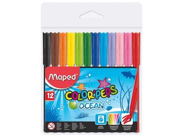 Markere pt copii,12b/set,Maped Ocean