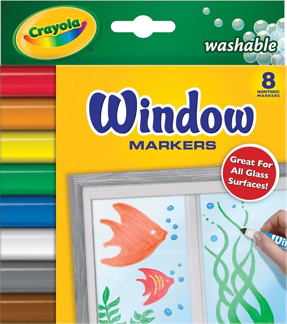 Markere pt sticla,8b/s,Crayola,lavabile