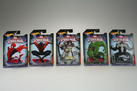 Masina Spiderman,6.5cm,div.mod