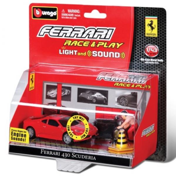 Masina sunet si lumini Bburago Ferrari 1:43