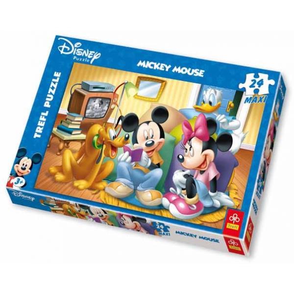 Maxi puzzle Mickey Mouse si povestile, 24 pcs.