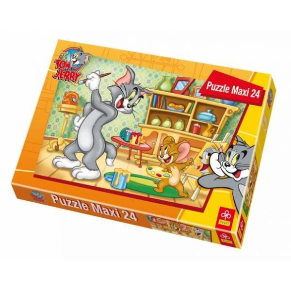 Maxi puzzle Tom&Jerry-Portretul lui Tom, 24 pcs.