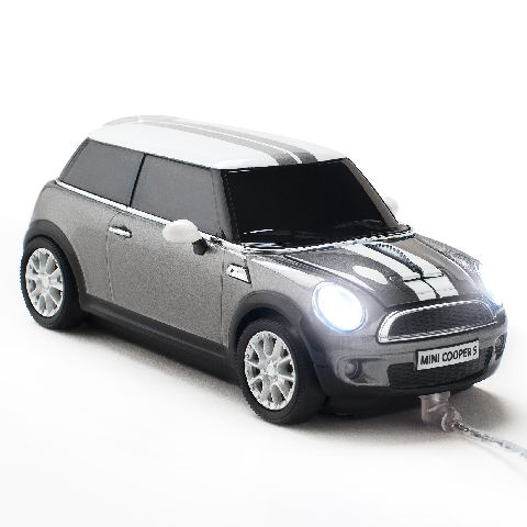 Mouse Mini Cooper S cu fir,argintiu