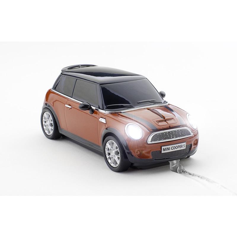 Mouse Mini Cooper S cu fir,portocaliu