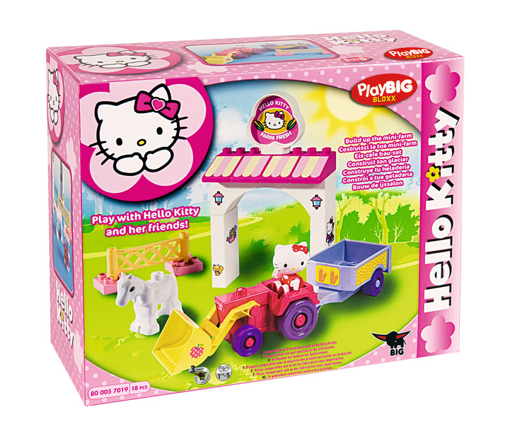 Mini ferma Hello Kitty, 18 cuburi