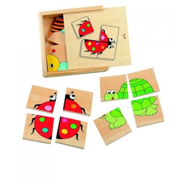 Mini puzzle lemn