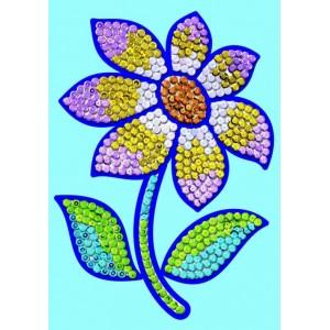 Model cu paiete Flori