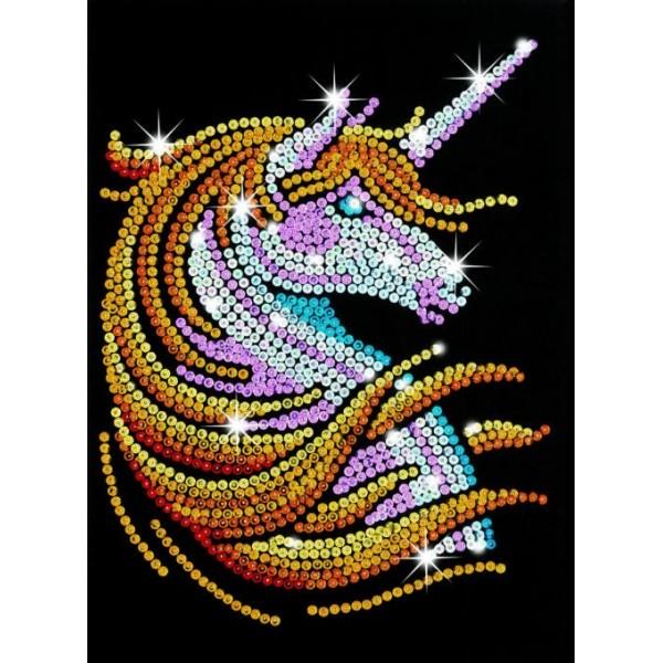 Model cu paiete Unicorn