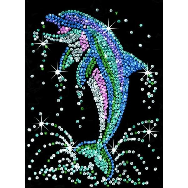 zzModel delfin cu paiete