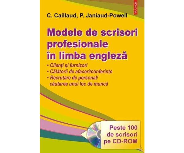 MODELE DE SCRISORI PROFESIONALE IN LIMBA ENGLEZA + CD