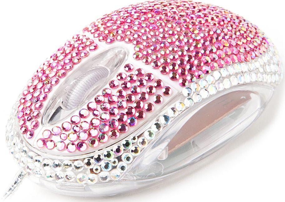 Mouse diamante-roz