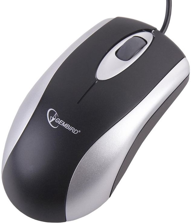 Mouse GEMBIRD  USB OPTIC   SILVER/BLACK