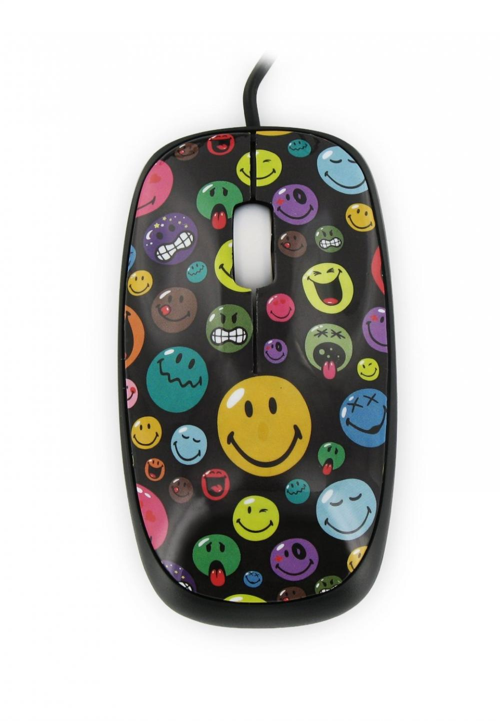 Mouse Smiley World,negru