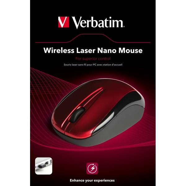 Mouse Verbatim Laser Nano USB Red