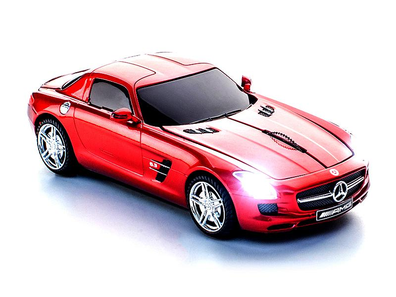 Mouse wireless Mercedes SLS AMG,rosu