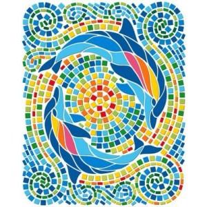 Mozaic artistic Delfini