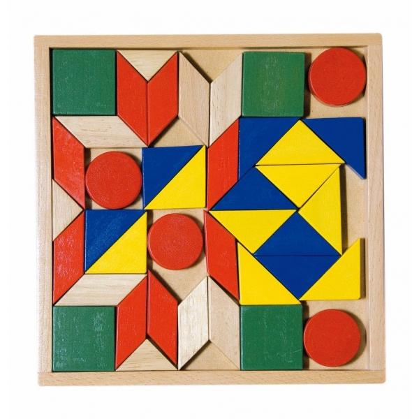 Mozaic colorat lemn, 44 pcs.
