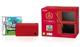 DSI XL RED + NEW SUPER MARIO BROS-