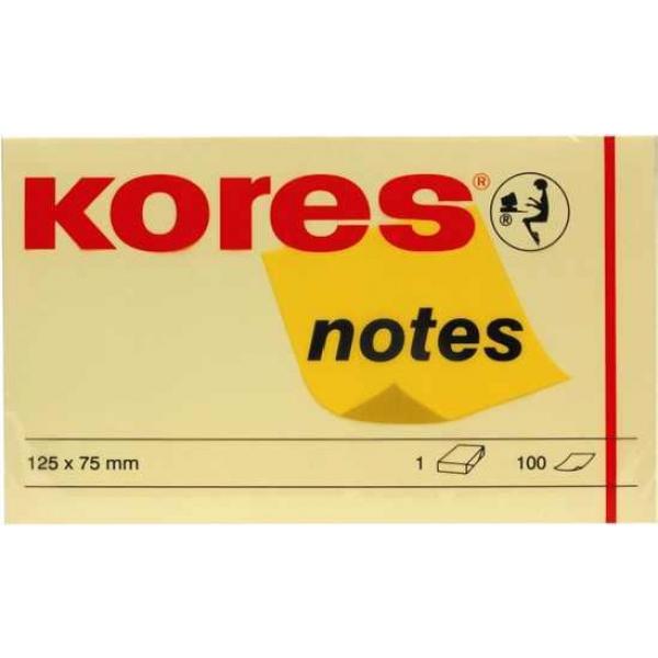 Notes galben Kores 125x75, 100file