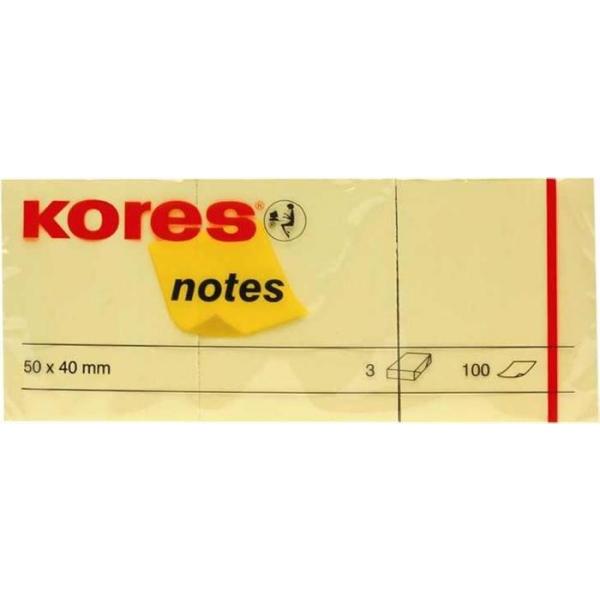 Notes galben Kores 50x40, 100 file 3/set