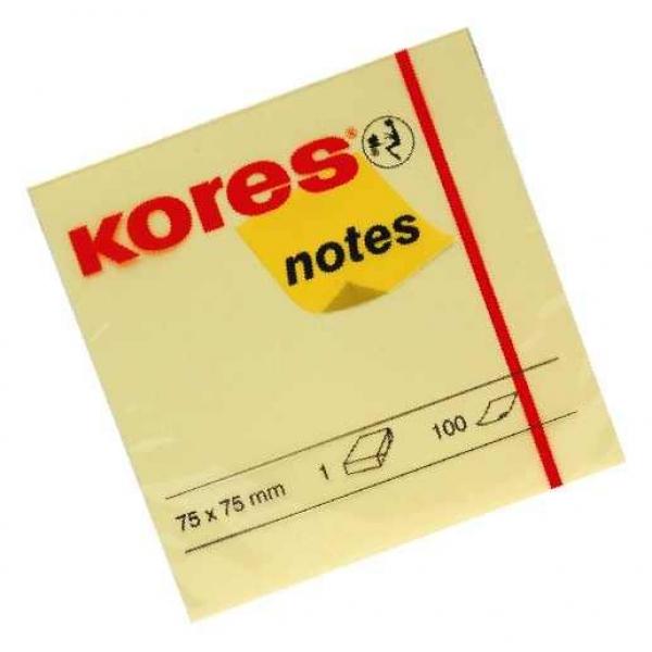 Notes galben Kores 75x75, 100 file