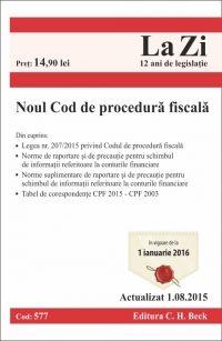 NOUL COD DE PROCEDURA FISCALA LA ZI COD 577 (ACTUALIZARE 10.08.2015)