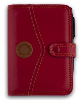 Organizator 13x18cm,Q24113,6 inele,calculator,rosu