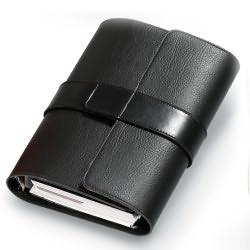 Organizator A5,Pochette,6 inele,negru