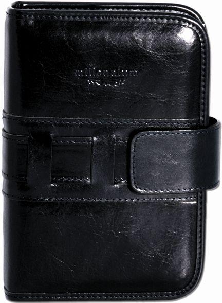 Organizator 19x24cm,Millenium,din piele,cu buzunar interior si pix,negru