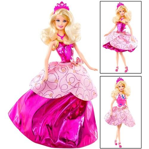Papusa Barbie Charm School - 3 tinute in 1