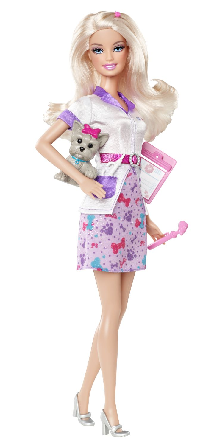 zzPapusa Barbie I can be Medic veterinar