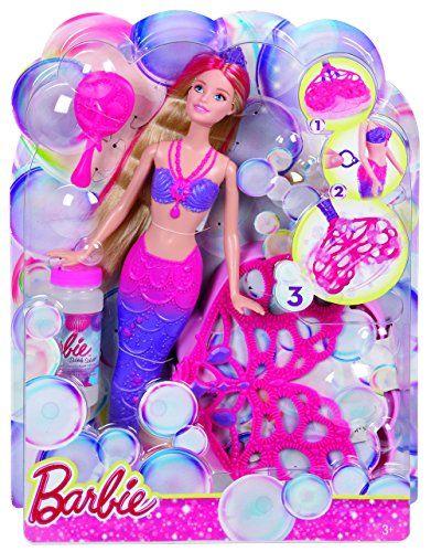 Papusa Barbie,sirena,baloane de sapun,set