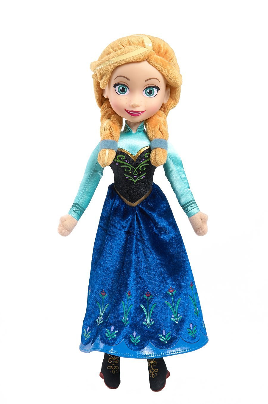 Papusa Disney,plus,Frozen,Elsa,Anna,canta,38cm