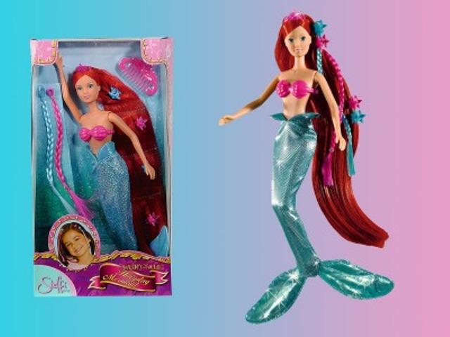 Papusa Steffi,sirena cu accesorii par