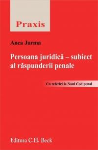 PERSOANA JURIDICA - SUB SUBIECT AL RASPUNDERII