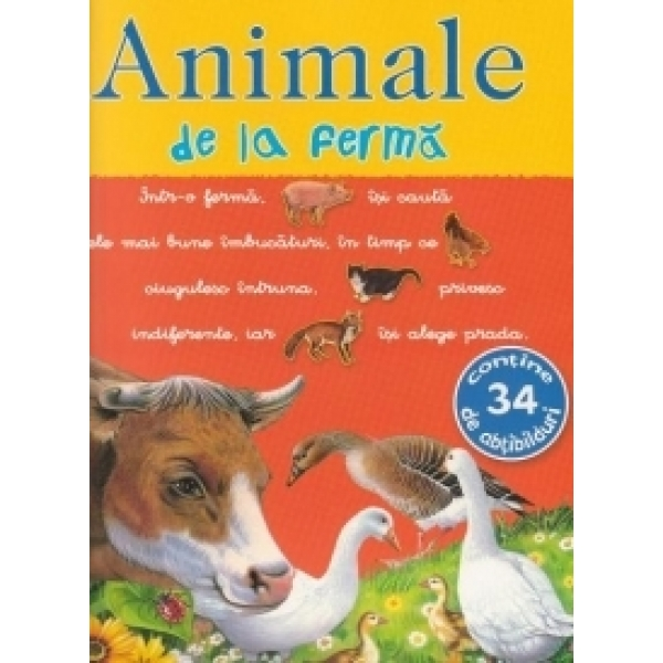 PICTO-ABTIBILDURI CU ANIMALE DE LA FERMA