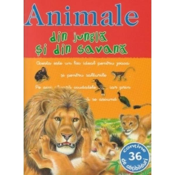 PICTO-ABTIBILDURI CU ANIMALE DIN JUNGLA SI DIN SAVANA