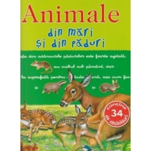PICTO-ABTIBILDURI CU ANIMALE DIN MARI SI DIN PADURI