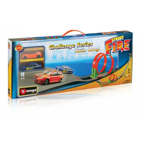 zzPista cu 2 bucle Bburago Street Fire Challenge 1:43
