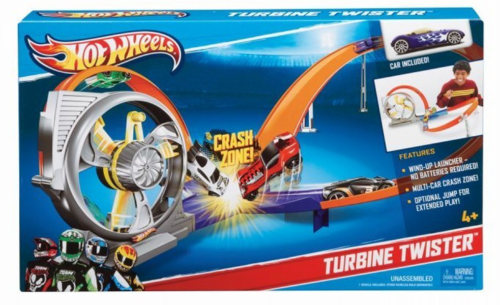 Pista Hot Wheels cu 2 bulce