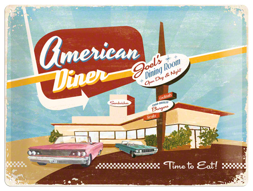 Placa 30x40 American Diner