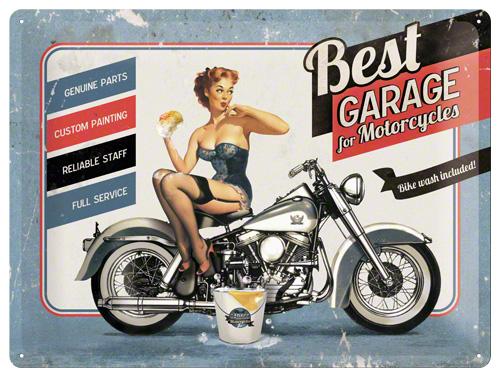 PLACA 30x40 BEST GARAGE