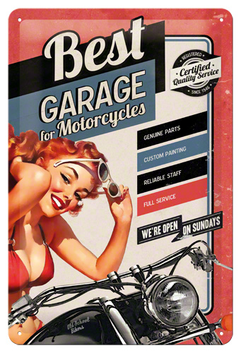 Placa 20x30 Best Garage Red