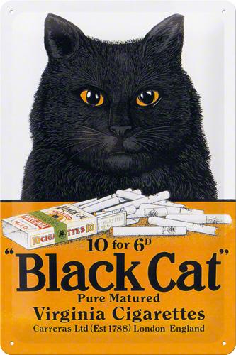 PLACA 20X30 BLACK CAT