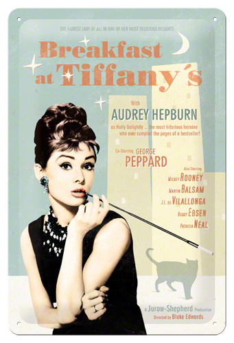 PLACA 20X30 BREAKFAST AT TIFFANYS FOTO POSTER